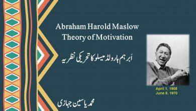 Photo of ابرہم  ہارولڈ میسلو کا تحریکی نظریہ